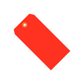 "#7 Red Fluorescent Tag Pack 5-3/4"" x 2-7/8"" - 1000 Pack"