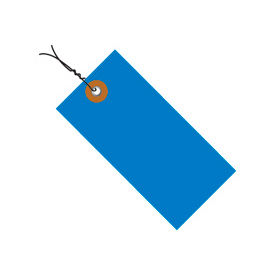 """#8 Wired Blue Tyvek Tag 6-1/4"""" x 3-1/8"""" - 100 Pack"""