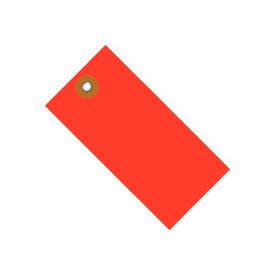"""#8 Red Tyvek Tag 6-1/4"""" x 3-1/8"""" - 100 Pack"""
