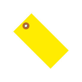 "#8 Yellow Tyvek Tag 6-1/4"" x 3-1/8"" - 100 Pack"