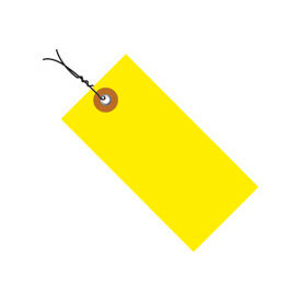 """#5 Wired Yellow Tyvek Tag 4-3/4"""" x 2-3/8"""" - 100 Pack"""