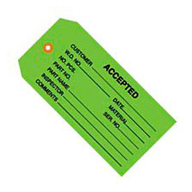 """#5 Accepted Green 4-3/4"""" x 2-3/8"""" - 1000 Pack"""