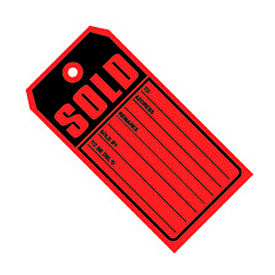 "#5 13 Part Sold Red 4-3/4"" x 2-3/8"" - 500 Pack"