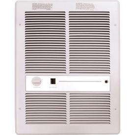 TPI Fan Forced Wall Heater With Summer Fan Switch H3317T2SRPW - 4800W 240V White