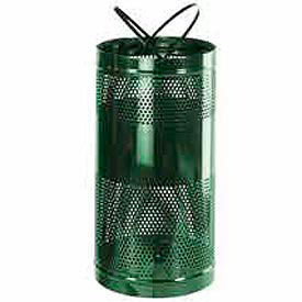 "Rubbermaid® H3 Towne Free Standing Receptacle, Green, 34 Gallon, 18""Dia x 35""H"