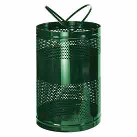 """Rubbermaid® H55E Towne Free Standing Receptacle, Green, 63 Gallon, 23""""Dia x 36""""H"""