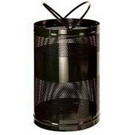 "Rubbermaid® H55E Towne Free Standing Receptacle, Black, 63 Gallon, 23""Dia x 36""H"