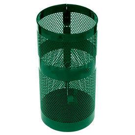 "Rubbermaid® H9N Towne Pole/Wall Mount Receptacle, Green, 22 Gallon, 15""Dia x 30""H"