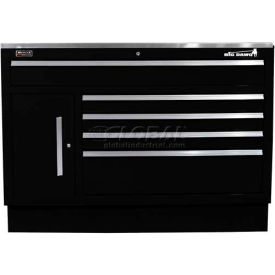 "Homak 60"" CTS Small Door 5 Drawer Base - Black"