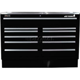 "Homak 60"" CTS Double Bank Drawers Base - Black"