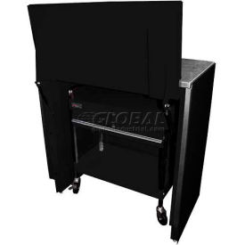 "Homak 46"" Service Cart Locker - Black"