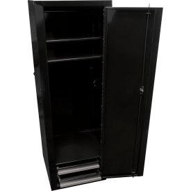 """Homak 18"""" Full-Height Side Locker w/ 2 Drawers - Black"""