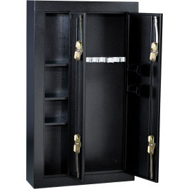 Homak 8-Gun Double Door Steel Security Cabinet - Black