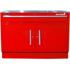 "Homak 46"" CTS 2 Door 1 Drawer Base - Red"