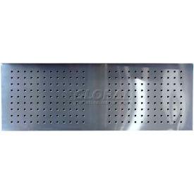 "Homak 46"" CTS Stainless Steel Perforated Backsplash"