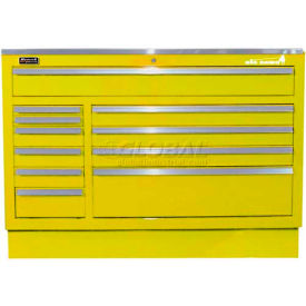 "Homak 46"" CTS Small Door 5 Drawer Base - Yellow"