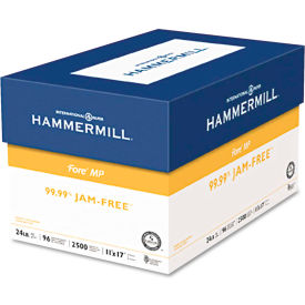 Multipurpose Paper - Hammermill Fore MP HAM102848 - White - 11 x 17 - 24 lb. - 500 Sheets/Ream