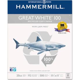 Recycled Copy Paper - Hammermill HAM86790 - White - 8-1/2 x 11 - 20 lb. - 5000 Sheets/Carton