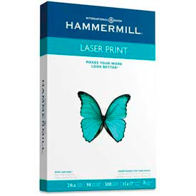 """Hammermill® Laser Print Paper, 11"""" x 17"""", 24 lb, Ultra Smooth, White, 500 Sheets/Ream"""