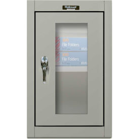 Hallowell 405-1626SV 400 Series SafetyView Door Wall Mount Storage Cabinet,16x12x26,Gray,Unassembled