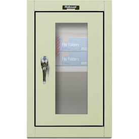 Hallowell 405-1626SV 400 Series Safety-View Door Wall Mount Cabinet,16x12x26,Parchment,Unassembled