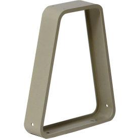 Hallowell 4820 Bench Pedestal  Aluminum 3x3x16-3/4  Parchment