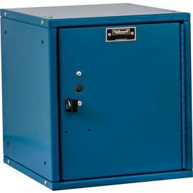 Hallowell HC121212-1PL-MB Cubix Modular Locker, Padlockable, 12x12x12, Plain Door, Marine Blue
