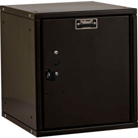 Hallowell HC121212-1PL-ME Cubix Modular Locker Padlockable 12x12x12 Plain Door - Black