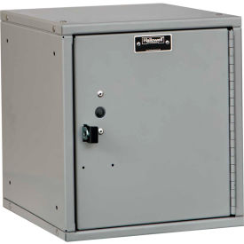 Hallowell HC121212-1PL-PL Cubix Modular Locker, Padlockable, 12x12x12, Plain Door, Platinum