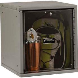 Hallowell HC121212 Cubix Modular Locker, w/built-in key lock, 12x12x12, Safety-View Door,Platinum