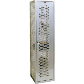 "Hallowell HLV882-1PL Welded Visible Storage Locker 18-3/4""X18""X74-3/4"""
