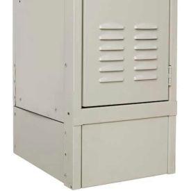 "Hallowell KCFB15HG Steel Locker Accessory, Closed Front Base 15""W x 6""H - Dark Gray"