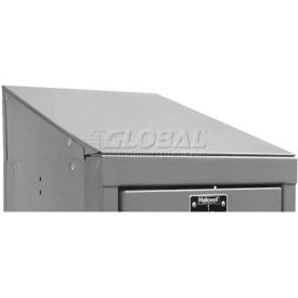 """Hallowell KISE12HG Steel Locker Accessory, Slope Top End Closure 12""""D x 4""""H  725 Gray"""