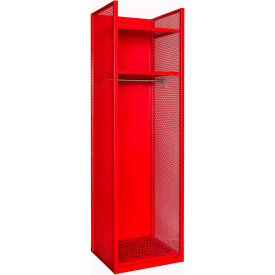Hallowell TGNN42(84)-1C-G-RR-HT Turnout Gear Locker 25x22x84 Assembled Relay Red - Hammertone