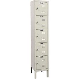 Hallowell U1226-5A Premium Locker Five Tier 12x12x12 5 Doors Assembled Parchment