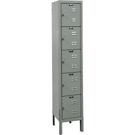 Hallowell U1226-5 Premium Locker Five Tier 12x12x12 5 Doors Ready To Assemble - Dark Gray
