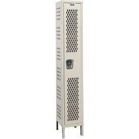 Hallowell U1518-1HDV Heavy-Duty Ventilated Locker Single Tier 15x21x72 - 1 Door Unassembled - Tan