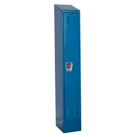 Hallowell Ready-Built II Locker Single Tier 1 Wide - 12x12x78 Blue