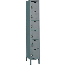 "Hallowell URB1288-6A-HG ReadyBuilt Locker, 12""W x 18""D x 13""H,Gray, 6 Tier, 1 Wide"
