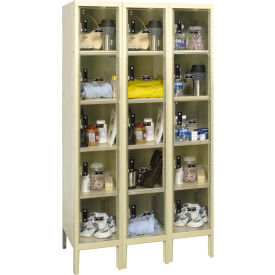 Hallowell USVP3256-5A Safety-View Plus Locker Five Tier 12x15x12 - 15 Doors Assembled - Tan