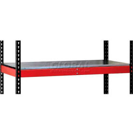 "Hallowell FKRL4824E-RR-HT Fort Knox Rivetwell Extra Level w/ EZ Deck 48"" x 24"" x 3.375""  Red 1 Level"
