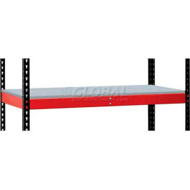 Hallowell FKRL4824F-RR-HT Fort Knox Rivetwell Extra Level w/ FeatherDeck, 48 x 24 x 3, Red, 1 Level