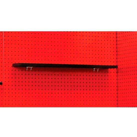 "Fort Knox Pegboard Shelf, 36""W x 5""D x 3/4""H, Black"
