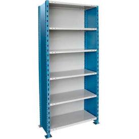 "Hallowell H-Post High Capacity Shelving 36""W x 24""D x 123""H 6 Adj Shelves Closed Style-Shelf Starter"