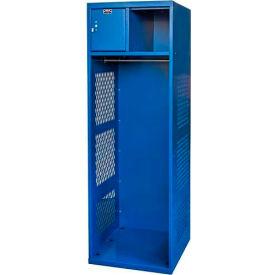 Hallowell KSBN422-1A-C-GS Gear Locker, 24x22x72, w/Top Shelf, Security Box, Grand Slam, Assembled