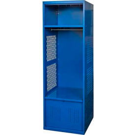 Hallowell KSNF482-1A-C-GS Gear Locker, 24x18x72, w/Top Shelf, Foot Locker, Grand Slam, Assembled