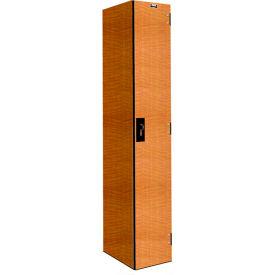 Hallowell PHL1282-1A-FA VersaMax Phenolic Locker 12x18x72 Single Tier, 1 Wide, Annigre, Padlock Hasp