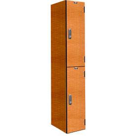 Hallowell PHL1282-2A-E-FA VersaMax Phenolic Locker 12x18x36 Double Tier 1 Wide Annigre DigiTech Lock