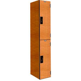 Hallowell PHL1282-2A-FA VersaMax Phenolic Locker 12x18x36 Double Tier, 1 Wide, Annigre, Padlock Hasp