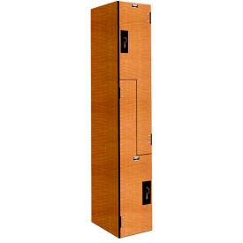 Hallowell PHL1282-ZA-FA VersaMax Phenolic Locker, 12x18x42, Z Tier, 1 Wide, Annigre, Padlock Hasp